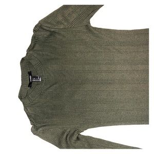 Ribbed F21 Olive Green Bodycon Dress $10